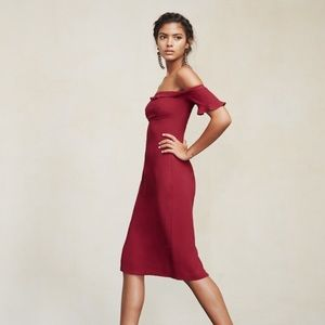 Reformation red Antonia dress